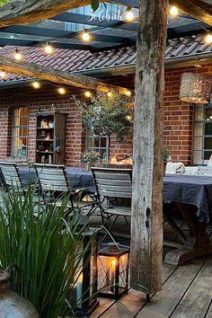 Dream Garden, Home And Garden, Terrace Garden Design, Cool Tree Houses, Pergola Designs, Land Scape, Garden Inspiration, Backyard Landscaping, Outdoor Gardens