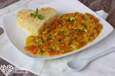 Mrkvové kari so šošovicou a ryža Vegetarian Recipes, Healthy Recipes, Chana Masala, Kids Meals, Good Food, Curry, Veggies, Food And Drink, Cooking