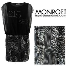 Shop this fab dress only 215 AED @monroeandme #graceandmila #parsian #blackandsilver #metallic #embellished #monochrome #LBD #sale  #fashion #style #trend #monroeandme #dubai #mydubai #abudhabi #uae #lebanon #qatar #bahrain #oman #saudiarabia #kuwait #jordan #egypt #cyprus