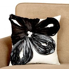 black  grey toss pillow. goth  not all at the same time: $14.99