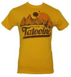 """Star Wars Mens T-Shirt - """"Welcome to Tatooine"""".  Make it a Star Wars Father's Day"""