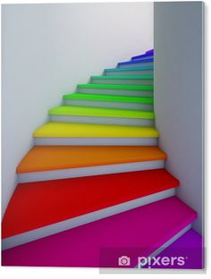 12 Ideas To Spice Up Your Stairs - Stairway to heaven - Rainbow Taste The Rainbow, Over The Rainbow, Neon Rainbow, Rainbow Things, Rainbow Stuff, Rainbow Colors In Order, Rainbow Art, Rainbow House, Rainbow Candy
