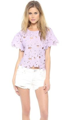 Short Sleeved Lilac Floral Top {click to shop}