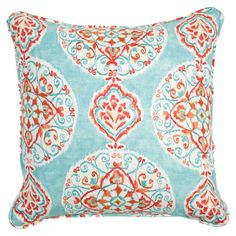Medallion-inspired cotton pillow. Made in the USA.   Product: PillowConstruction Material: CottonColor: