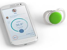 "The Pacif-i ""smart pacifier"" is equipped with Bluetooth. It tracks baby's temperature and sends readings directly to a parent's smartphone. It also has a location-tracking sensor to find the pacifier if it gets lost or monitor the baby's whereabouts. Kids Gadgets, Geek Gadgets, High Tech Gadgets, Electronics Gadgets, Baby Health, Kids Health, Windows Phone, Baby Tech, Bluetooth"