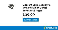 Discount Sega Megadrive With 80 Built-In Games Save £10 @ Argos, £39.99 at Argos