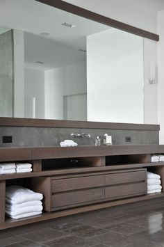 Bathroom Furniture : smoke grey wood and tile combination – long linear contemporary wash basin vanity -Read More – House Bathroom, Bathroom Furniture, Interior, Traditional Bathroom Remodel, Affordable Bathroom Remodel, Bathroom Vanity, Bathroom Interior, Modern Bathroom, Bathroom Decor