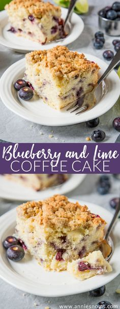 A soft, juicy Blueberry and Lime cake topped with the most amazing crunchy crumb topping. The perfect zesty and tender cake to enjoy with a cup of coffee!