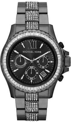 I have wanted a Michael Kors watch for a long time! My man hooked me up for my 26th birthday! I am so lucky! <3 MICHAEL KORS WOMEN'S GUNMETAL GRAY SWAROVSKI CRYST CHRONO CALENDAR WATCH MK5829