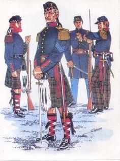 New York Volunteer Infantry American Uniform, American War, American Soldiers, American History, Commonwealth, Army Uniform, Military Uniforms, Civil War Art, Union Army