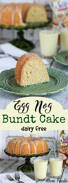 This Eggnog Bundt Cake recipe is a festive choice for the holiday season. It's even dairy free! I make no secret of my love for eggnog, which is why I am thrilled that Silk's non-dairy Mini Desserts, Holiday Baking, Christmas Desserts, Christmas Baking, Just Desserts, Delicious Desserts, Xmas Food, Fall Food, Christmas Goodies