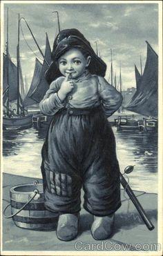 Childe in Fisherman Gear by Harbor Dutch Children
