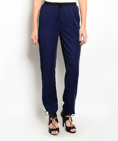 Navy & Black Jogger by Buy in America #zulily #zulilyfinds