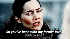 OUAT Milah. i love this scene bc she is the only person who reacted to their weird messed up lives appropriately