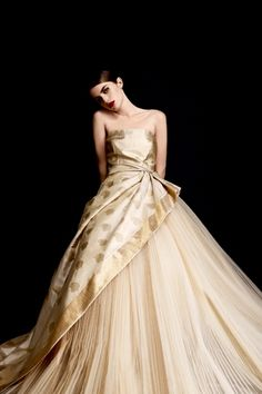 Alberta Ferrerti dress in Kanchipuram silk for Vogue India Dec 2012.