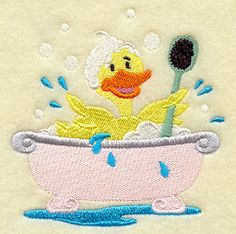 Embroidered Duck Towel - Duck Towel - Duckie Towel - Flour Sack Towel - Hand Towel - Bath Towel - Apron - Fingertip Towel by misty1718 on Etsy