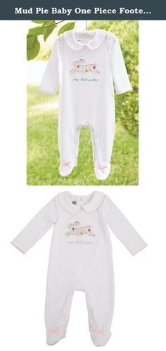 Mud Pie Baby One Piece Footed Sleeper, Easter Bunny, 0-3 Months. Mud Pie footed sleepers are great for wearing any time! the front closure makes changing easy along with many more features you will love.