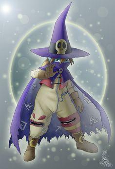 dazzling Wizardmon by Leen-galeas.deviantart.com on @deviantART