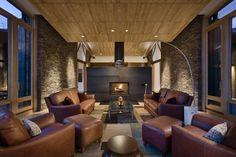70 moderne, innovative Luxus Interieur Ideen fürs Wohnzimmer - ledermoebel gruppe luxus  braun wohnbereich