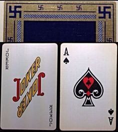 1930 Americana Swastika Hotel Statler Bridge Rare Playing Cards B&B Vintage Deck