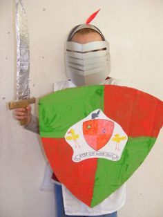 Make your own knight's shield