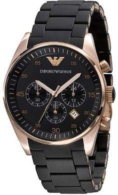 Relógio Emporio Armani Ar5905 Preto Rose Lindo Frete Grátis. - R$ 379,99