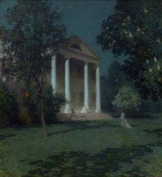 Willard Leroy Metcalf (American, 1858–1925), May Night, 1906, oil on canvas, 99.54×91.76cm, National Gallery of Art.