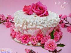 ©Oggi vi cucino così! White Rose Cake | Re-Cake 8