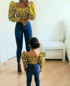 Mother Daughter Matching Outfits, Mother Daughter Fashion, Mommy And Me Outfits, Family Outfits, Kids Outfits, Mother And Daughter Clothes, Baby African Clothes, African Dresses For Kids, Latest African Fashion Dresses