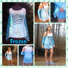 Elsa from Frozen Inspired complete running Outfit by iGlowRunning, $140.00