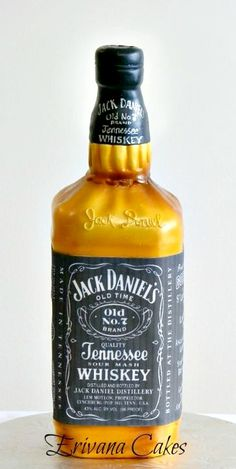 Jack Daniel's Bottle CAKE. Thought it was actually a real bottle for a split second