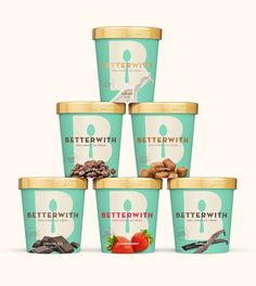"If you didn't think that ice cream could get any better, think again.  Betterwith Ice Cream is called ""100% honest ice cream"" because it's not  filled with mystery ingredients but instead local, farm-fresh ones.  Vancouver agency 123w (One Twenty Three West) developed the branding and  packaging"