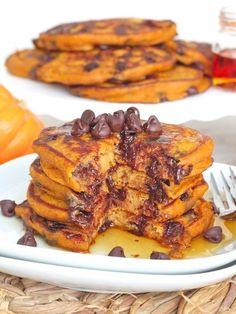 Pumpkin Chocolate Chip Pancakes   Pancakes That Are Basically Dessert