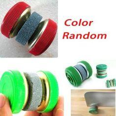 Práctico afilador de cuchillos / afilar Piedras / amoladora de rueda de color de forma aleatoria :: regalandia.eCarty.com
