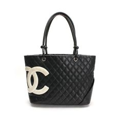 CHANEL Large Tote Cambon Shoulder bags Black Leather A25169