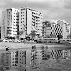 Plaza Altamira sur, en los 50's.