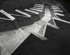 Toshio Shibata New Colour Fine Art Landscape Stairs, Landscape And Urbanism, Landscape Photos, Landscape Photography, Art Photography, Abstract City, Black And White Landscape, Garden Steps, Church Architecture