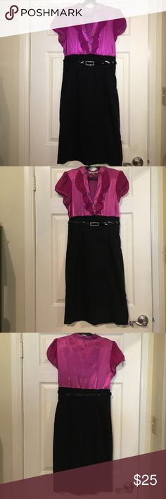 Fuchsia and black evening party/dinner dress Fuchsia and black evening dress. Form fitting and comfortable. Gorgeous dress with some bling. Worn only once and in excellent condition. Speechless Dresses