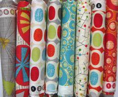 Mod Century Fat Quarter Fabric Bundle by LARKcottons on Etsy, $19.00