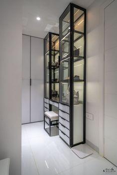 An Achromatic Apartment Interiors Called White Love | Dev & Kaushik Architects - The Architects Diary Floor Slab, Pooja Rooms, Wardrobe Design, Apartment Interior, Simple Designs, Architects, Living Room Decor, Relax, Interiors