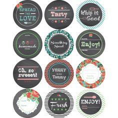 Hazel and Ruby: Mason Jar Labels, FREE Printable - Digital - Shoppe