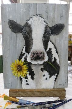 What is Your Painting Style? How do you find your own painting style? What is your painting style? Cow Paintings On Canvas, Cow Canvas, Farm Paintings, Animal Paintings, Canvas Art, Tole Painting, Painting & Drawing, Cow Drawing, Farm Art