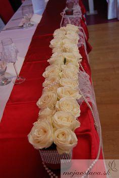 white roses Wedding Decorations, Table Decorations, Wedding 2015, White Roses, Wedding Table, Cake, Flowers, Pie Cake, Pie