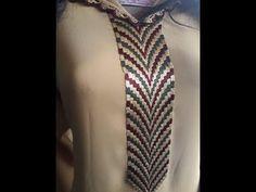 (48) موضيل تحت طلبكم ،نص طوق جميل بالطرز التونسي شبيه بالراندة - YouTube Embroidery Neck Designs, Chain, Crochet, Motifs, Point, Jewelry, Stitches, Fashion, Kaftan
