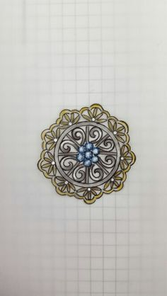 . Jewelry Design Drawing, Jewelry Sketch, Jewellery Sketches, Jewelry Art, Antique Jewelry, Necklace Drawing, Jewelry Illustration, Pendant Design, Jewelry Patterns