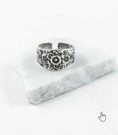 Silver Spoon Adjustable Ring - Eliza