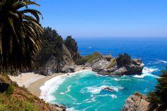 The beach by Carlos Luque, via 500px  A California beach near Julia Pfeiffer Burns State Park