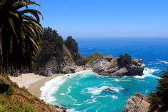 A California beach near Julia Pfeiffer Burns State Park