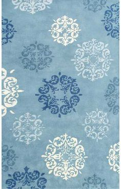 The Rug Market Closeout Bar Harbour 43106 Blue and Cream and Navy Area Rug | Bold Rugs