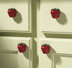 Country Apple Decor Kitchen Drawer Pulls (Set of 6) ~NEW~ | eBay